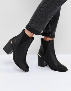 Ботинки челси на каблуке ASOS ECHO - Черный