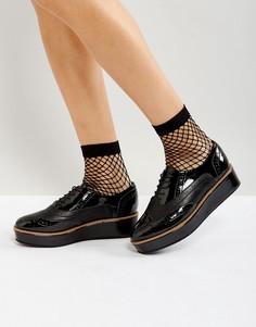 Туфли на платформе со шнуровкой ASOS MACAROON - Черный