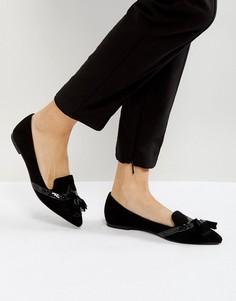Балетки с острым носком ASOS LOX - Черный