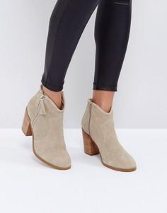 Замшевые ботинки ASOS EMMIE - Бежевый