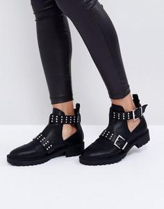 Байкерские ботинки с заклепками ASOS ALIBI - Черный