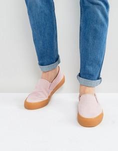 Розовые кеды-слипоны ASOS - Розовый