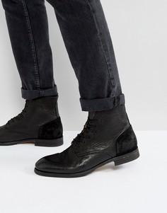 Кожаные ботинки на шнуровке Hudson London Yoakley - Черный