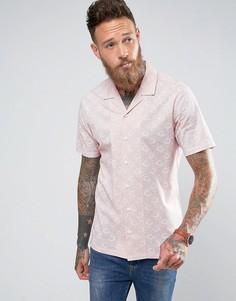 Рубашка классического кроя с отложным воротником и принтом пейсли ASOS - Розовый