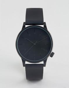 Часы с черным кожаным ремешком Komono Winston Regal - Черный
