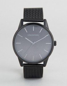 Часы с черным сетчатым ремешком UNKNOWN Urban - Черный