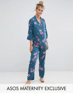 Пижамный комплект с цветочным принтом ASOS Maternity - Мульти
