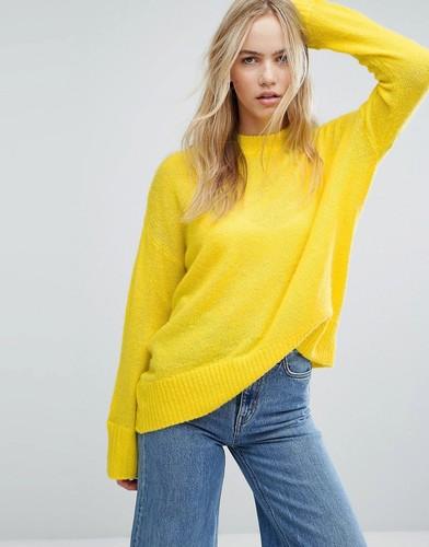 Мягкий вязаный джемпер Weekday - Желтый