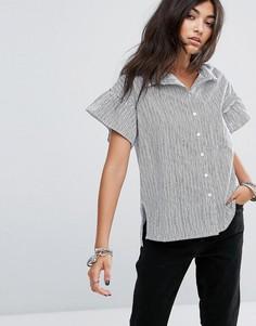 Рубашка в полоску с оборками на рукавах Noisy May - Мульти