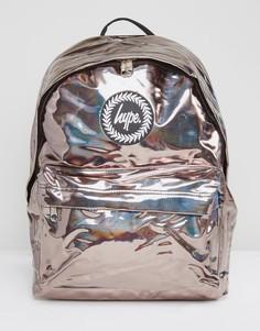 Рюкзак кофейного цвета с голографическим эффектом Hype - Золотой
