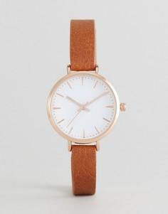 Часы со светло-коричневым ремешком ASOS CURVE - Рыжий