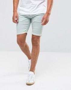 Бледно-голубые джинсовые шорты Blend Jogg - Синий