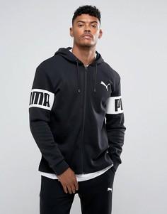 Черный пуловер на молнии Puma 59245501 - Черный