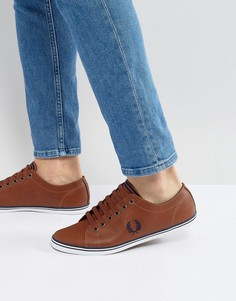 Кожаные кроссовки Fred Perry - Коричневый