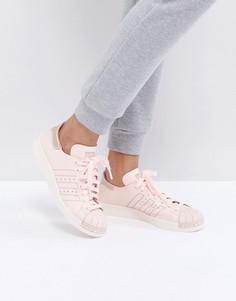 Розовые кожаные кроссовки adidas Originals Superstar 80S - Розовый