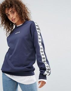 Темно-синий свитшот с круглым вырезом adidas Originals Tnt - Темно-синий