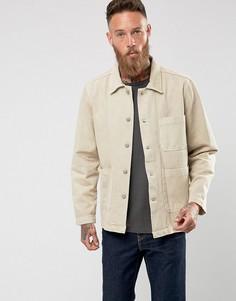 Джинсовая куртка песочного цвета Weekday - Бежевый