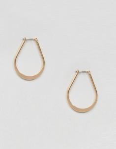 Плоские серьги овальной формы ASOS - Золотой