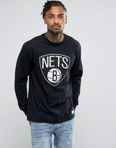 Лонгслив Mitchell & Ness NBA Brooklyn Nets - Черный