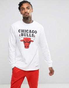 Лонгслив Mitchell & Ness NBA Chicago Bulls - Белый