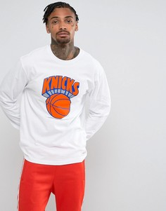 Лонгслив Mitchell & Ness NBA New York Knicks - Белый
