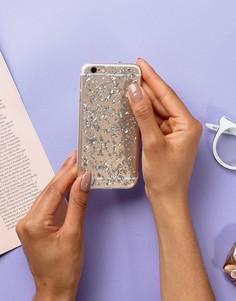 Чехол для Iphone6 с блестящей отделкой Signature - Серебряный