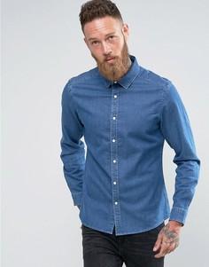 Узкая джинсовая рубашка ASOS - Синий
