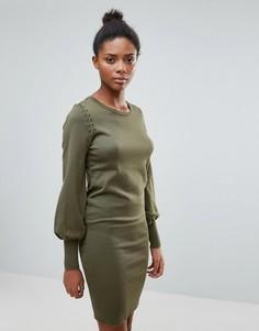 Платье-джемпер с расклешенными рукавами Vila - Зеленый
