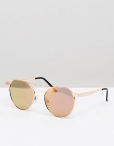 Круглые солнцезащитные очки с желтыми стеклами 7X - Желтый