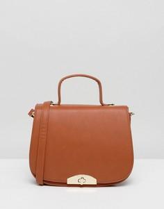 Оранжевая сумка-седло через плечо с ручкой и съемным ремешком Marc B - Оранжевый