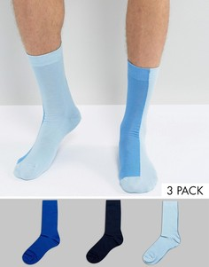 Набор из 3 пар двухцветных носков ASOS - Синий