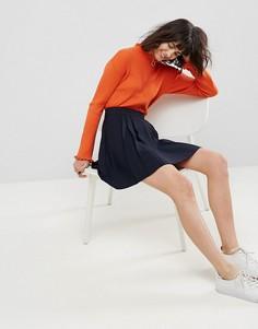 Мини-юбка со складками ASOS - Темно-синий