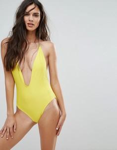 Слитный купальник Missguided - Желтый