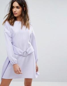 Платье с пышными рукавами Boohoo - Фиолетовый