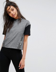 Футболка колор блок с логотипом на ленте Calvin Klein Jeans - Серый