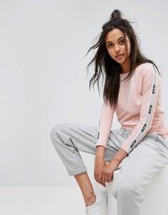 Лонгслив с логотипом Calvin Klein Jeans - Розовый