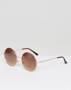 Золотистые солнцезащитные очки AJ Morgan - Золотой