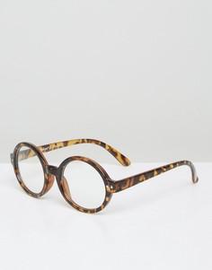 Круглые черепаховые очки в стиле ретро AJ Morgan - Коричневый