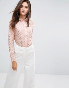 Рубашка с принтом Fashion Union - Розовый