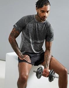 Спортивная футболка с круглым вырезом Threadbare Active - Серый