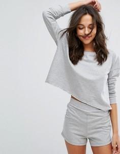 Свободный джемпер и пижамные шорты Lazy Days - Серый