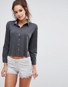 Пижамный комплект с рубашкой и шортами Lazy Days - Серый