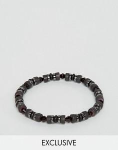 Черный браслет из бусин DesignB London эксклюзивно для ASOS - Черный