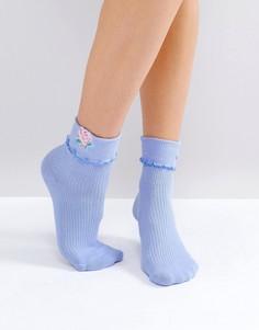 Носки с отделкой Lazy Oaf - Синий