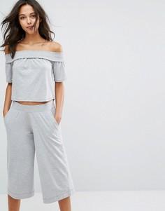 Серая меланжевая пижама с кюлотами Lazy Days - Серый