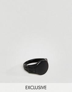 Черное матовое кольцо DesignB London эксклюзивно для ASOS - Черный