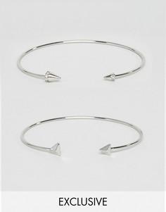 2 серебристых браслета DesignB London эксклюзивно для ASOS - Серебряный