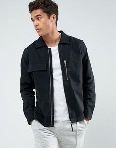 Саржевая куртка Jack & Jones - Черный