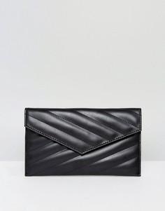 Стеганая сумка-клатч ASOS - Черный