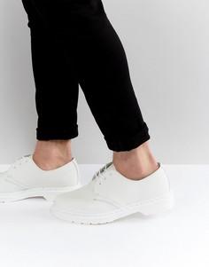 Ботинки с 3 парами люверсов Dr Martens 1461 - Белый